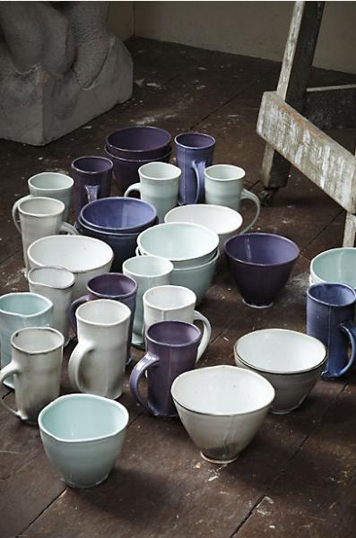 Anthropologie Pinched Corners Mug