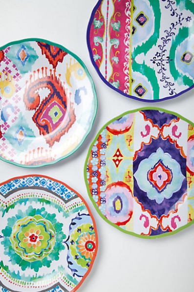 Hacienda Melamine Plate from Anthropologie