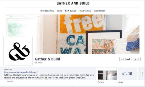Gather & Build Facebook